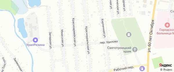 Красноуральская улица на карте Миасса с номерами домов