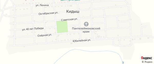 Озерная улица на карте села Кидыша с номерами домов