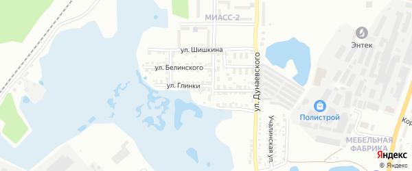 Улица Глинки на карте Миасса с номерами домов