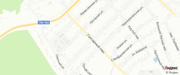 Гончарный переулок на карте Миасса с номерами домов