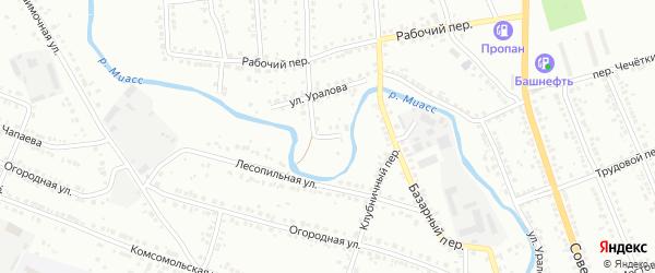 Парниковая улица на карте Миасса с номерами домов