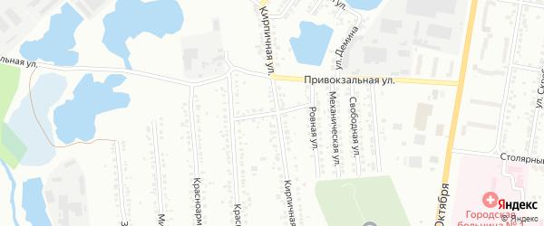 Старательский переулок на карте Миасса с номерами домов