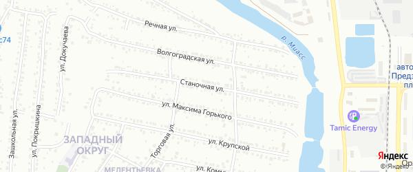 Станочная улица на карте Миасса с номерами домов