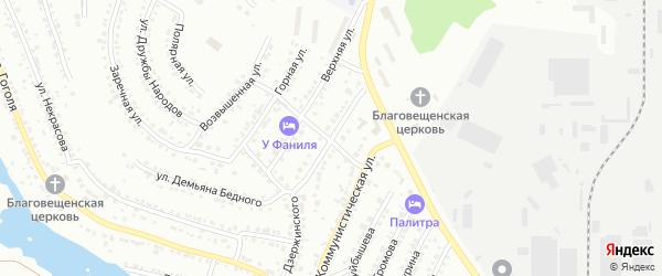 Улица Дзержинского на карте Миасса с номерами домов