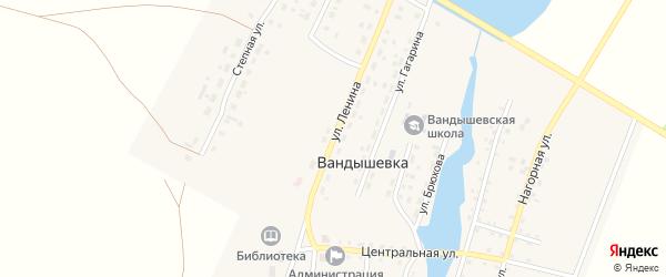 Улица Ленина на карте деревни Вандышевки с номерами домов