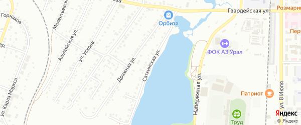 Саткинская улица на карте Миасса с номерами домов