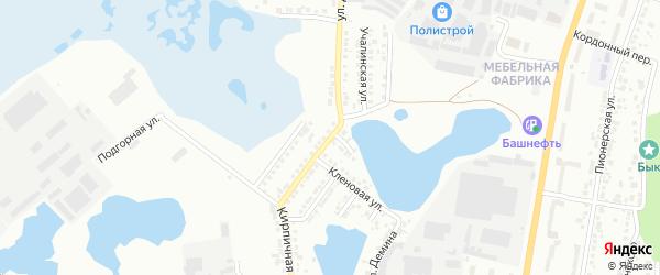 Учалинская улица на карте Миасса с номерами домов