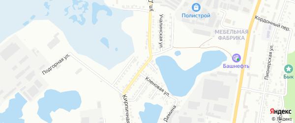 Цветочная улица на карте Миасса с номерами домов