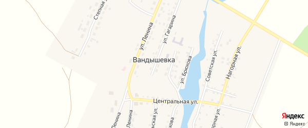 Комсомольская улица на карте деревни Вандышевки с номерами домов