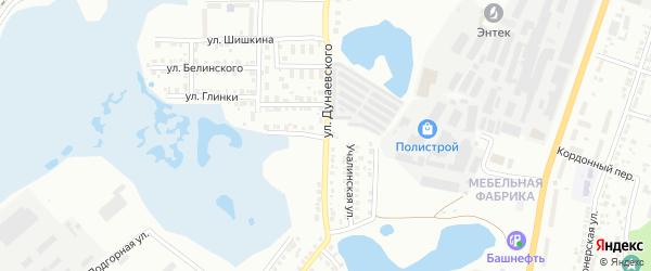 Улица Дунаевского на карте Миасса с номерами домов