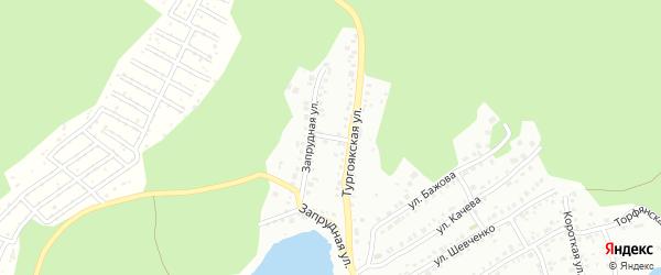 Переулок Запрудный (Динамо) на карте Миасса с номерами домов