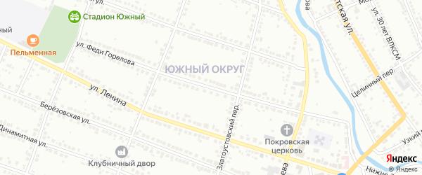 Улица Феди Горелова на карте Миасса с номерами домов