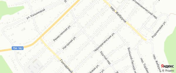 Крутой переулок на карте Миасса с номерами домов