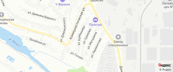Улица Громова на карте Миасса с номерами домов