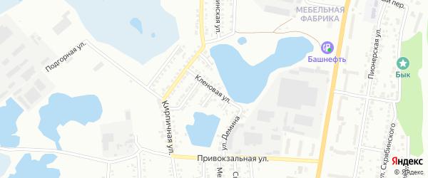 Кленовая улица на карте Миасса с номерами домов