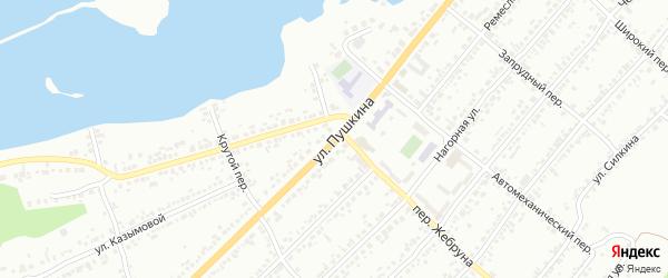 Улица Пушкина на карте Миасса с номерами домов