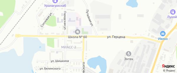 Улица Герцена на карте Миасса с номерами домов