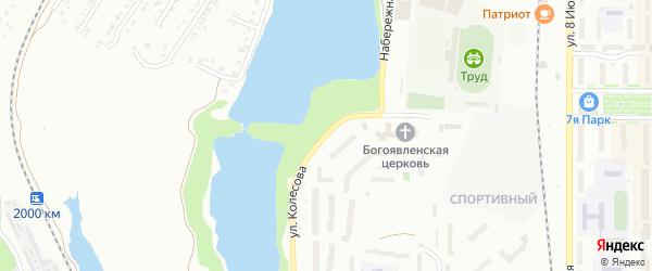 Улица Колесова на карте Миасса с номерами домов