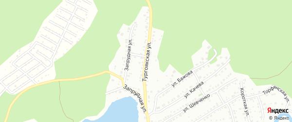 Тургоякская улица на карте Миасса с номерами домов