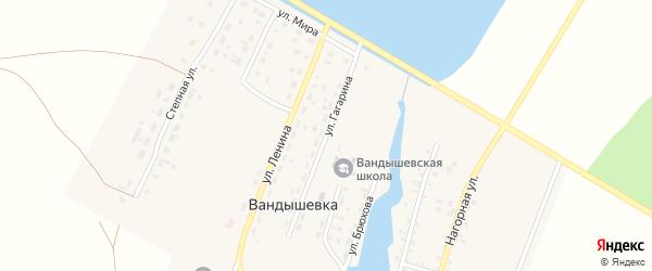Улица Гагарина на карте деревни Вандышевки с номерами домов