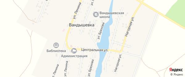 Улица 40 лет Победы на карте деревни Вандышевки с номерами домов
