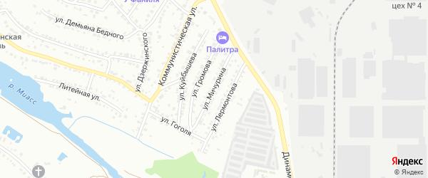 Улица Мичурина на карте Миасса с номерами домов