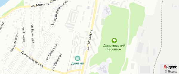 Улица Готвальда на карте Миасса с номерами домов