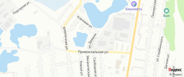 Улица Демина на карте Миасса с номерами домов