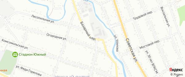 Базарный переулок на карте Миасса с номерами домов