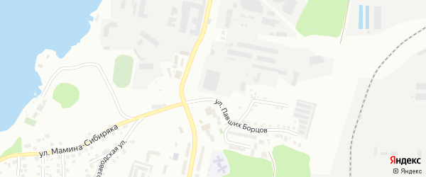 Сад СНТ Динамо на карте Миасса с номерами домов