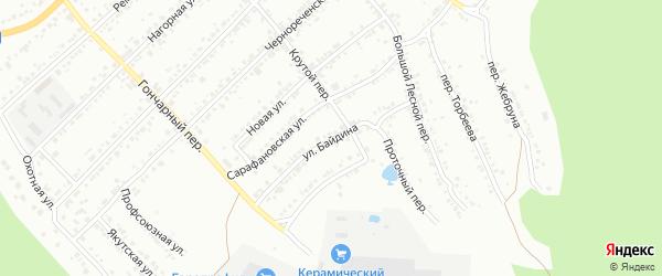 Улица Байдина на карте Миасса с номерами домов