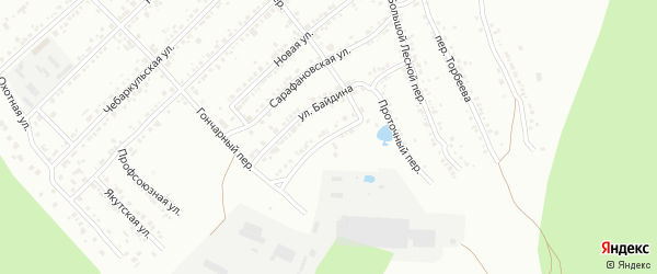 Мало-сарафановская улица на карте Миасса с номерами домов