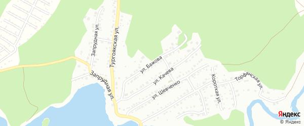Улица Бажова на карте Миасса с номерами домов