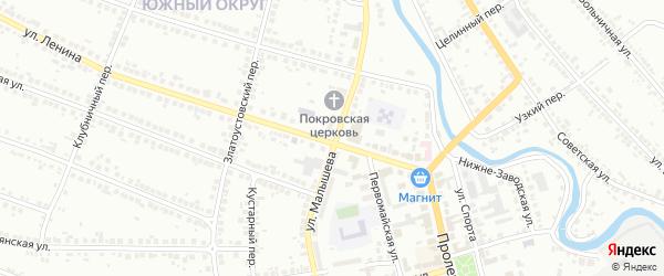 Улица Малышева на карте Миасса с номерами домов