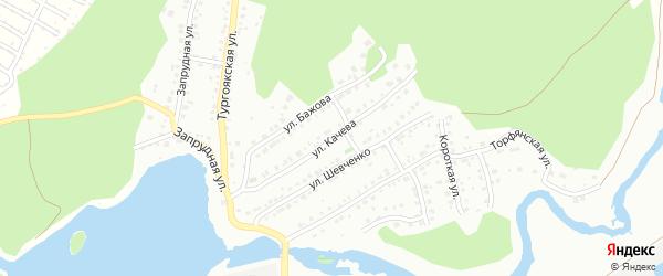 Улица Качева на карте Миасса с номерами домов