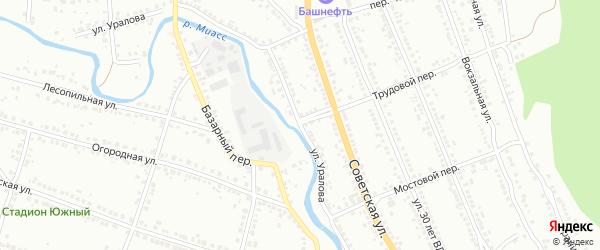 Улица Уралова на карте Миасса с номерами домов