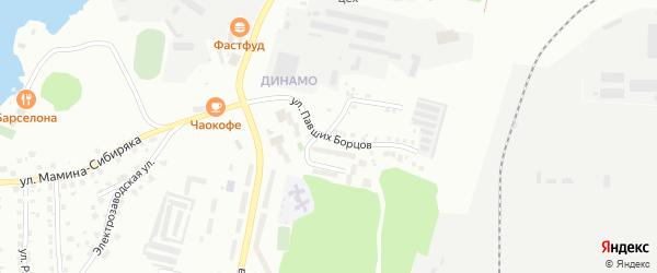 Улица Павших Борцов на карте Миасса с номерами домов