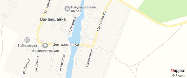 Солнечный переулок на карте деревни Вандышевки с номерами домов