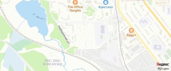 Сад СНТ Учитель на карте Миасса с номерами домов