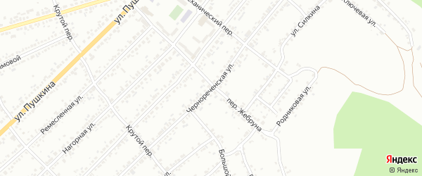 Чернореченская улица на карте Миасса с номерами домов