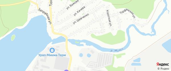 Долинная улица на карте Миасса с номерами домов