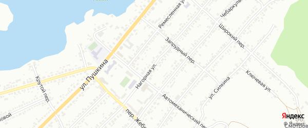 Нагорная улица на карте поселка Ленинска с номерами домов