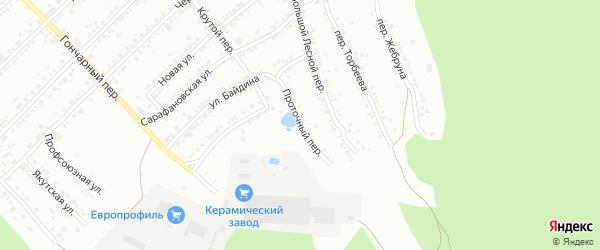 Проточный переулок на карте Миасса с номерами домов