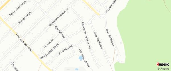 Большой Лесной переулок на карте Миасса с номерами домов