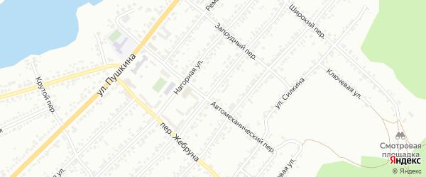 Чебаркульская улица на карте Миасса с номерами домов