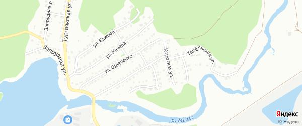 Торфянская улица на карте Миасса с номерами домов