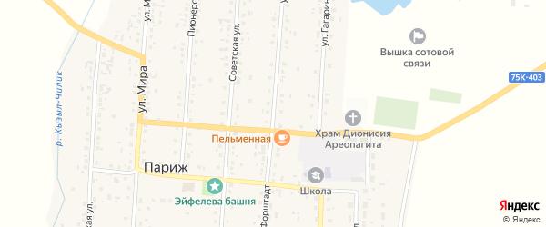 Улица Форштадт на карте села Парижа с номерами домов