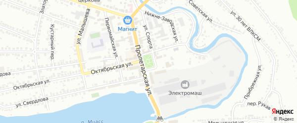 Площадь Труда на карте Миасса с номерами домов