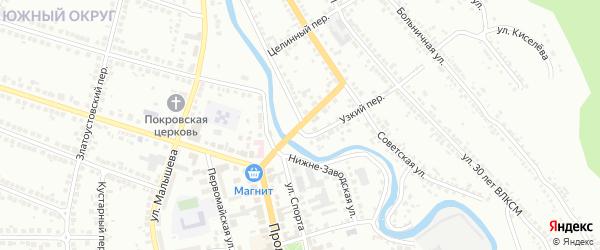 Детский переулок на карте Миасса с номерами домов
