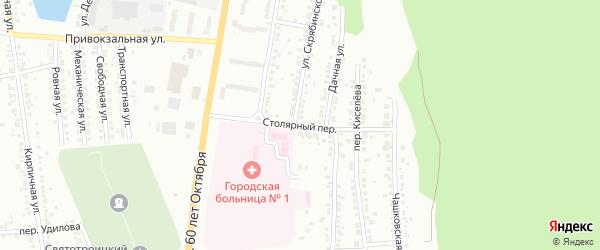 Столярный переулок на карте Миасса с номерами домов